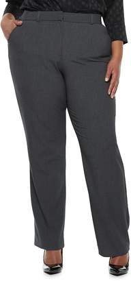 863609fcee0ec Plus Size Napa Valley Comfort Waist Slimming Bi-Stretch Dress Pants