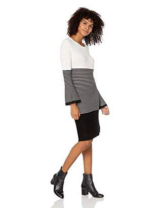 Jack by BB Dakota Junior's to The Max Striped Sweater Dress
