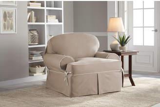 Serta Twill T-Cushion Armchair Slipcover