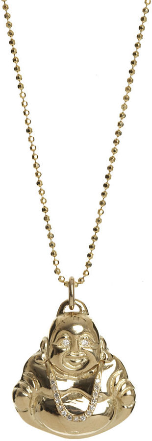 Jennifer Meyer Buddha Pendant Necklace