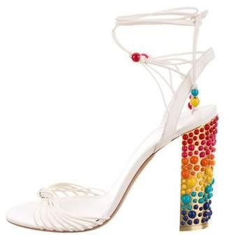 Salvatore Ferragamo Rainbow Embellished Sandals w/ Tags