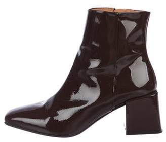 LOQ Patent Leather Ankle Boots silver Patent Leather Ankle Boots