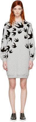 McQ Alexander Mcqueen Grey Swallows Dress $360 thestylecure.com
