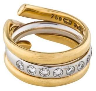 Georg Jensen 18K Diamond Interchangeable Magic Ring Set