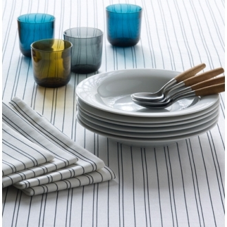 Unison Porter Linen/Organic Cotton Table Linens - Midnight