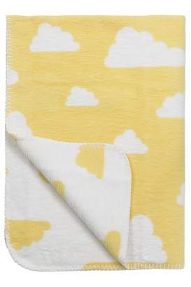 """Camilla And Marc Meyco 1551149 Baby Blanket""""Little Clouds"""" 120 x 150 cm Yellow"""
