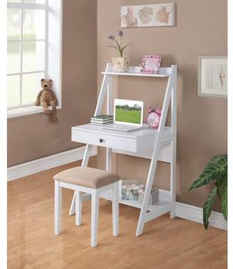 Winston Porter Burdine Wooden Ladder Desk and Chair Set