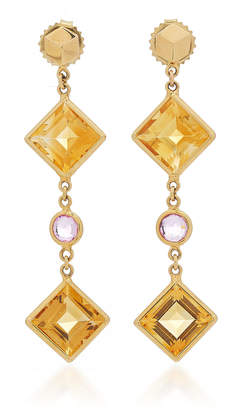 Paolo Costagli Citrine And Pink Sapphire Florentine Earrings