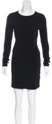 Alice + Olivia Mesh-Accented Mini Dress