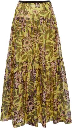 Red Valentino Limone Print Skirt $950 thestylecure.com