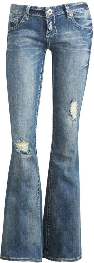 Asymmetrical Flare Jean
