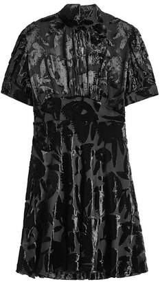 McQ Chiffon Dress with Velvet