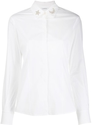 P.A.R.O.S.H. embellished collar shirt