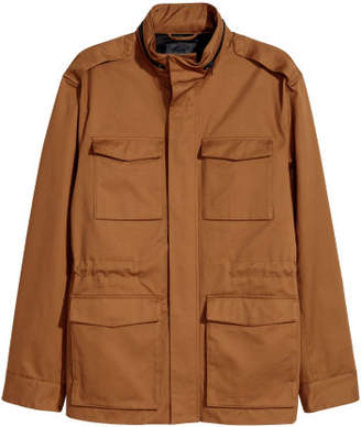 H&M Cotton Twill Cargo Jacket - Beige
