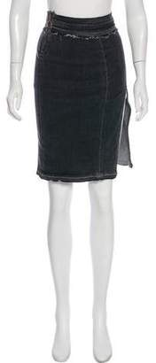 Baja East Denim Knee-Length Skirt w/ Tags