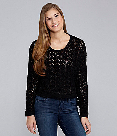 So It Is Cable Knit High-Low Sweater