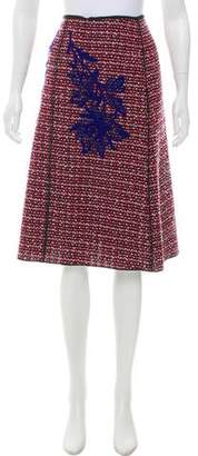 Marc Jacobs Embroidered Tweed Skirt