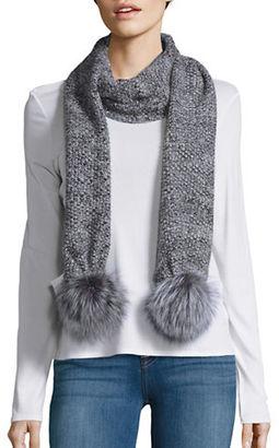Portolano Fox Fur Tassel-Accented Scarf $245 thestylecure.com