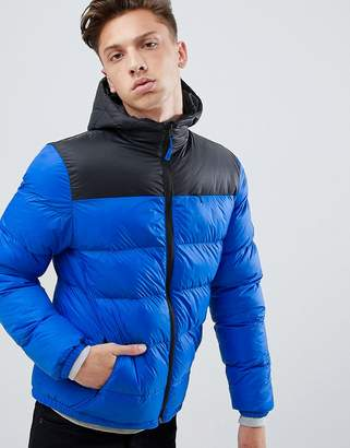 Tokyo Laundry Paneled Puffer Jacket with Hood