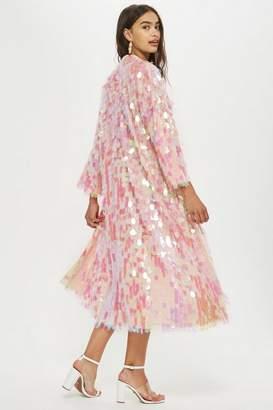 Topshop Petite Sequin Maxi Kimono