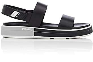 Prada Women's Leather Double-Band Slingback Sandals - Nero