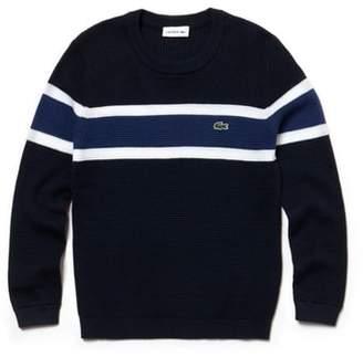 Lacoste Pique Effect Knit Sweater