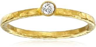 Gurhan Skittle White Diamond High Karat Stacking Ring, Size 6.5