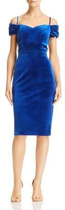 Laundry by Shelli Segal Cold-Shoulder Velvet Dress - 100% Exclusive