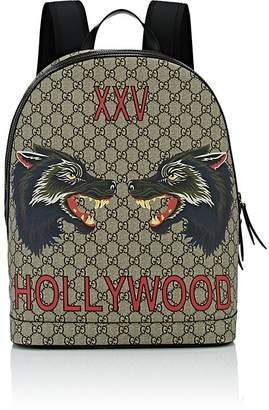 Gucci Men's Wolf-Print GG Supreme Backpack