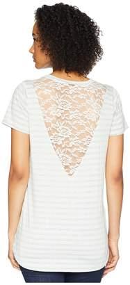 Cruel Lace Back Insert Hi-Low Tee Women's T Shirt