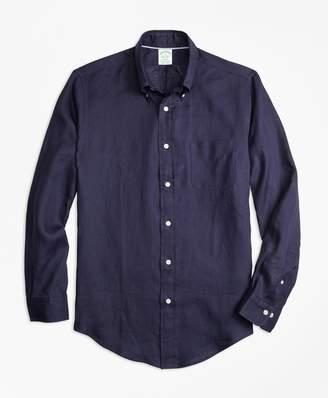 Brooks Brothers Milano Fit Irish Linen Sport Shirt