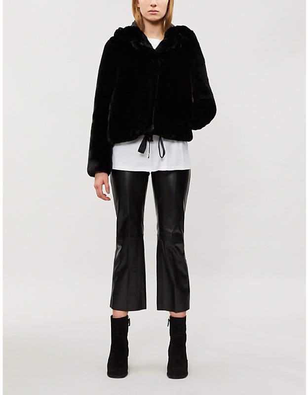 Ondine hooded faux-fur jacket