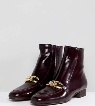 Free People Emerald City Leather Buckle Front Ankle Boots