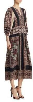 Sea Ezri Crochet-Trim Printed Maxi Dress