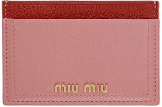 Miu Miu Pink and Red Card Holder