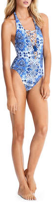 Seafolly Lace Up Maillot