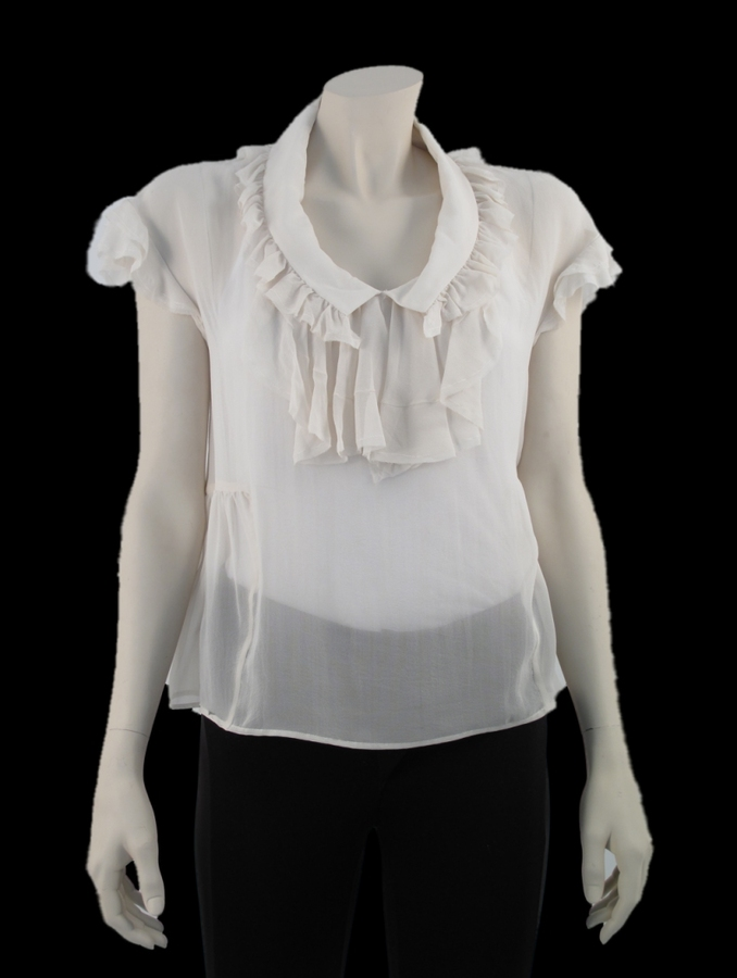 By Malene Birger Bowen Sheer Top