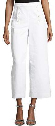 St. John Cropped Wide-Leg Sailor Pants
