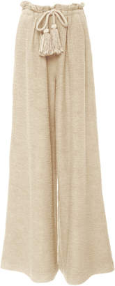 Ulla Johnson Ayana Tasseled Cotton-Gauze Wide Leg Pant