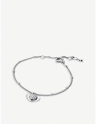 Michael Kors Love sterling silver charm bracelet