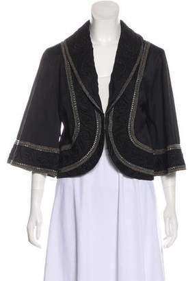 Temperley London Beaded Shawl-Lapel Jacket