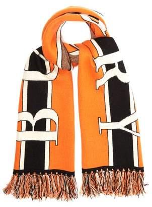 Burberry Logo Jacquard Cashmere Scarf - Womens - Multi