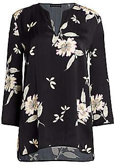 Etro Women's Plumeria Floral Tunic Top