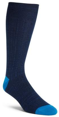 Nordstrom Variegated Ribbed Ultrasoft Socks
