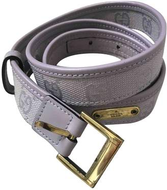 Gucci Purple Cloth Belts