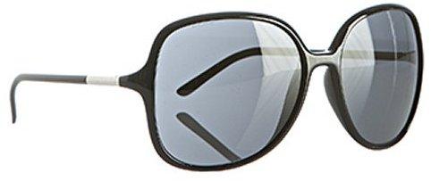 Prada black acrylic oversize round sunglasses