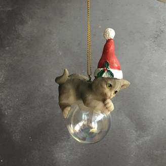 The Christmas Home Kitten Bubble Christmas Decoration