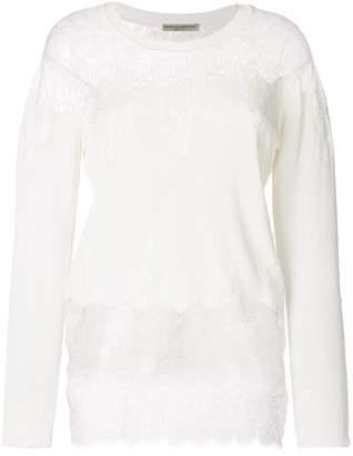 Ermanno Scervino lace insert sweater