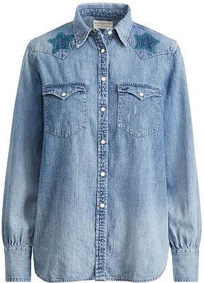 Ralph Lauren Denim & Supply Star-Embroidery Western Shirt $125 thestylecure.com