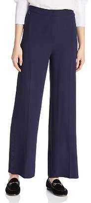 Eileen Fisher Silk Tuxedo-Striped Pants